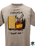 Adult Montreal  Souvenir T shirt DONT FEED THE BEARS - Souvenir Du Quebec