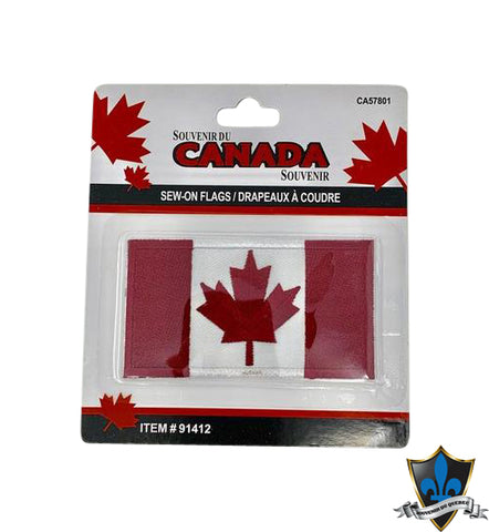 Canada  Flag Iron on Patch - Souvenir Du Quebec, Maple Syrup, Souvenirs, Montreal