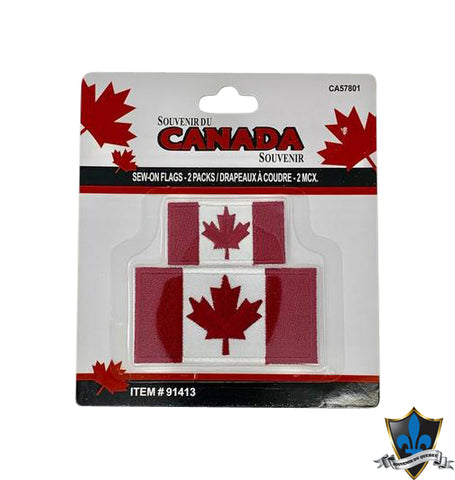 Double Canada  Flag Iron on Patch - Souvenir Du Quebec, Maple Syrup, Souvenirs, Montreal