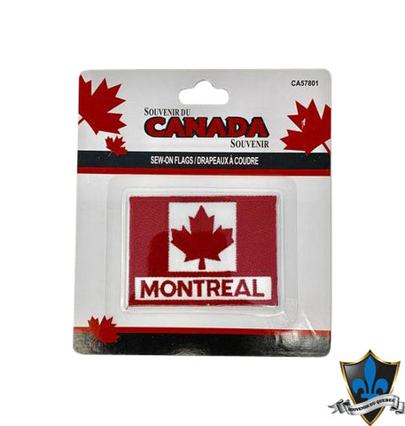 Montreal Canada Flag Iron On  Patch - Souvenir Du Quebec, Maple Syrup, Souvenirs, Montreal