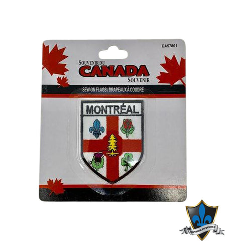 Montreal  Flag Iron on Patch - Souvenir Du Quebec, Maple Syrup, Souvenirs, Montreal