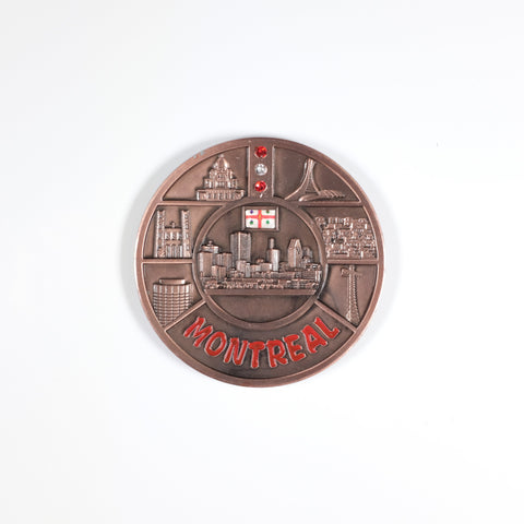 Copper and Red Montreal Magnet