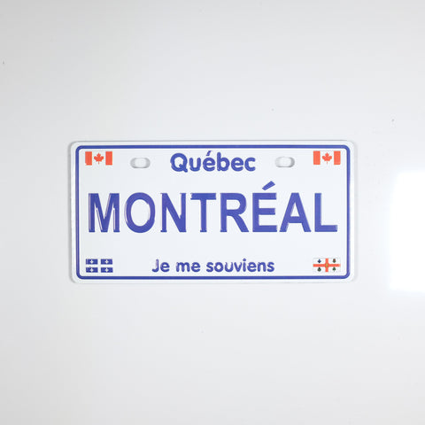 Large Quebec License Plate Magnet - Souvenir Du Quebec, Maple Syrup, Souvenirs, Montreal