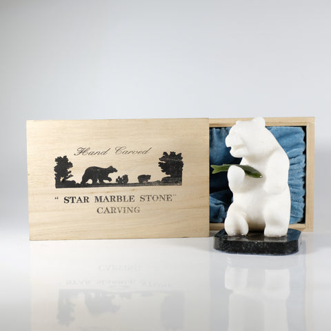 Marble Stone Polar Bear Big