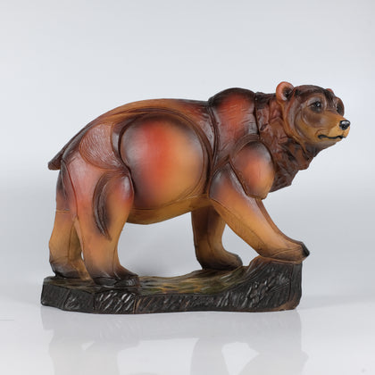 Engraved Canadian  Bear Figurine - Souvenir Du Quebec