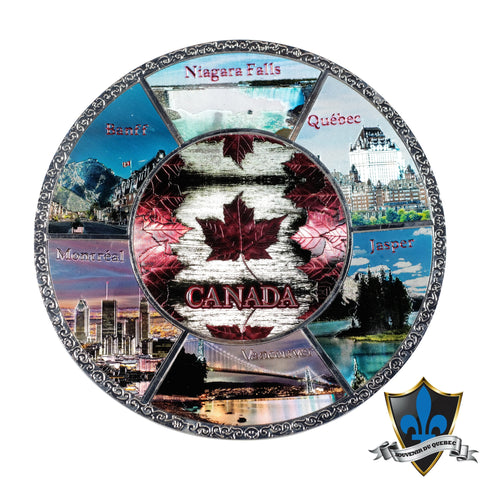 Canada Maple Leaf Metal Plate