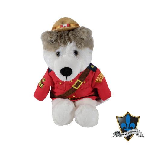 Canadian  Mountie white Wolf Cute Souvenir Plush Stuffed animal - Souvenir Du Quebec