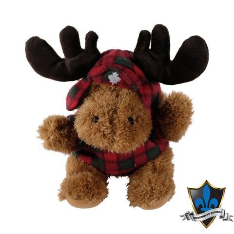 Moose with Lumberjack jacket and hat. - Souvenir Du Quebec, Maple Syrup, Souvenirs, Montreal