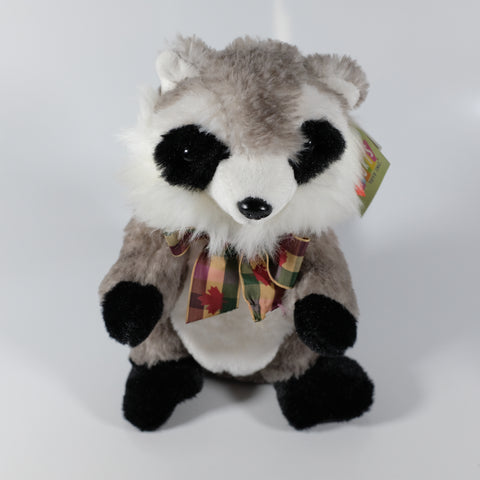Racoon With Canadian Scarf
