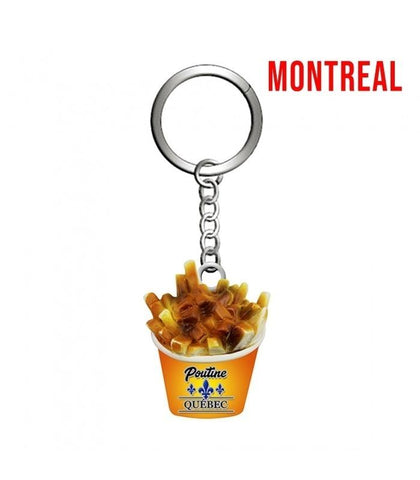 Gold Montreal   Poutine keychain