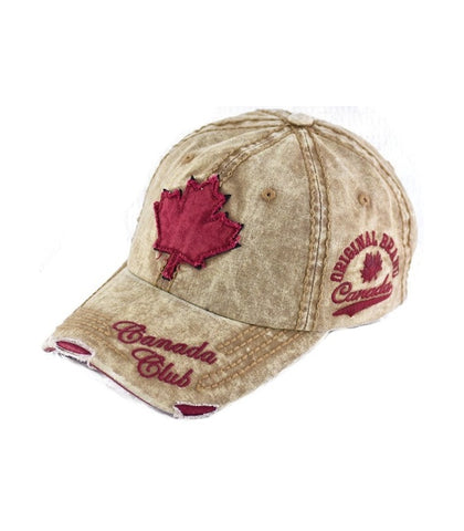 Canada Club tie die Beige Red  Hat.