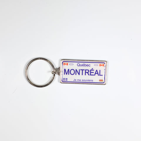 Montreal License Plate Keychain