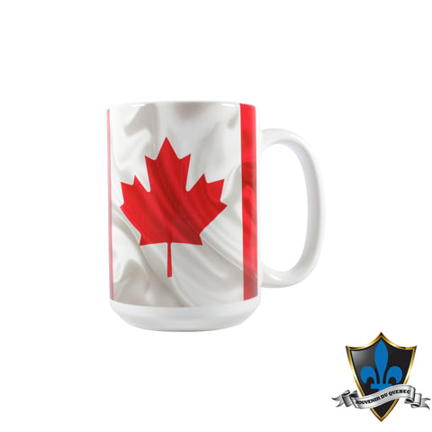 Canadian flag with the Canadian facts tall coffee Mug. - Souvenir Du Quebec