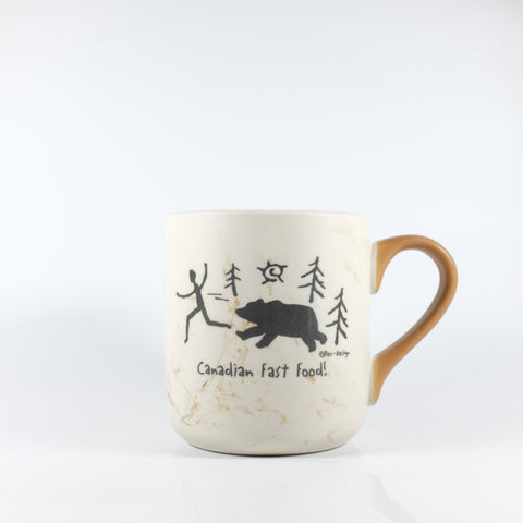 Brown Canadian Polar Bear in a Snowstorm Mug