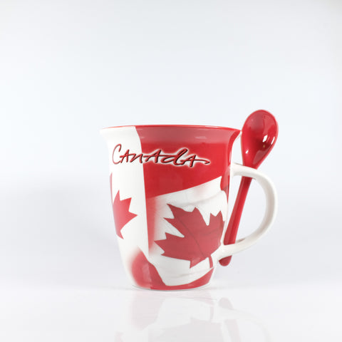 Red and White Canada Mug