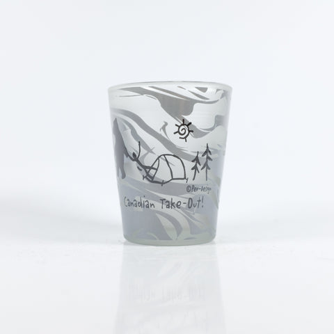 Marble Canadian Takeout Shotglass