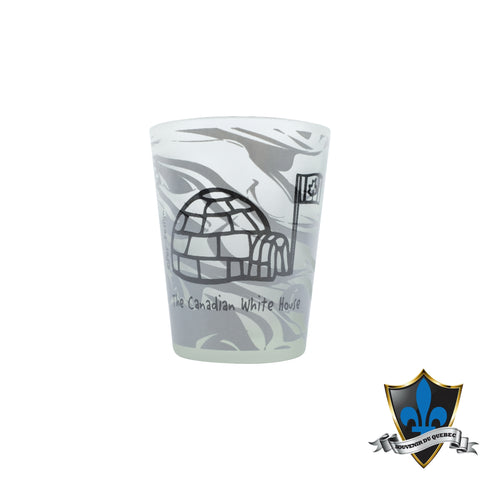 Marble Canadian White House Shotglass