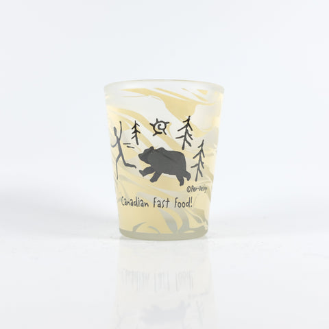 Marble Canadian Fast Food Shotglass