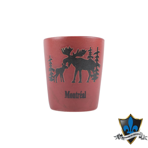 Navy Blue Ceramic Moose Shotglass - Souvenir Du Quebec, Maple Syrup, Souvenirs, Montreal