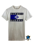Adult Souvenir T shirt  Montreal Quebec flag