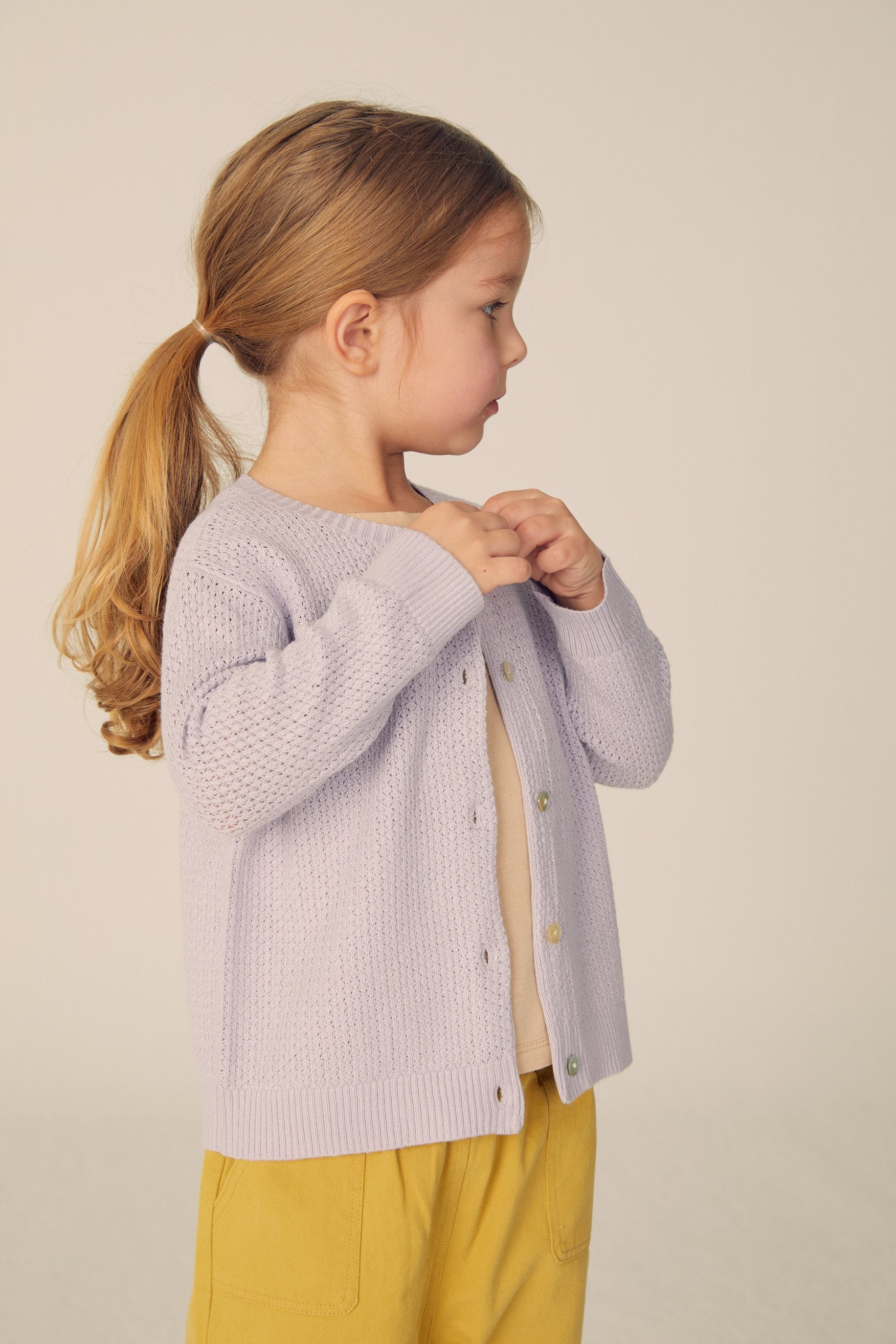 Buttoned cardigan  - Lavender