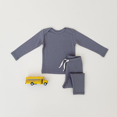 Long sleeve set-Dark Gray