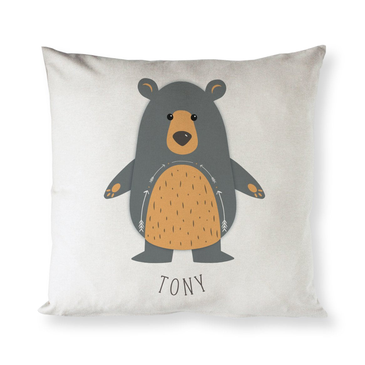 Personalized Bear Baby Pillow Cover