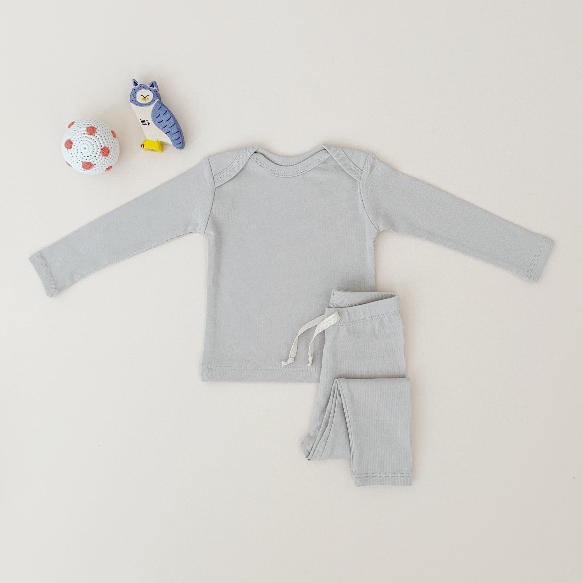 Long sleeve set - Silver Cloud
