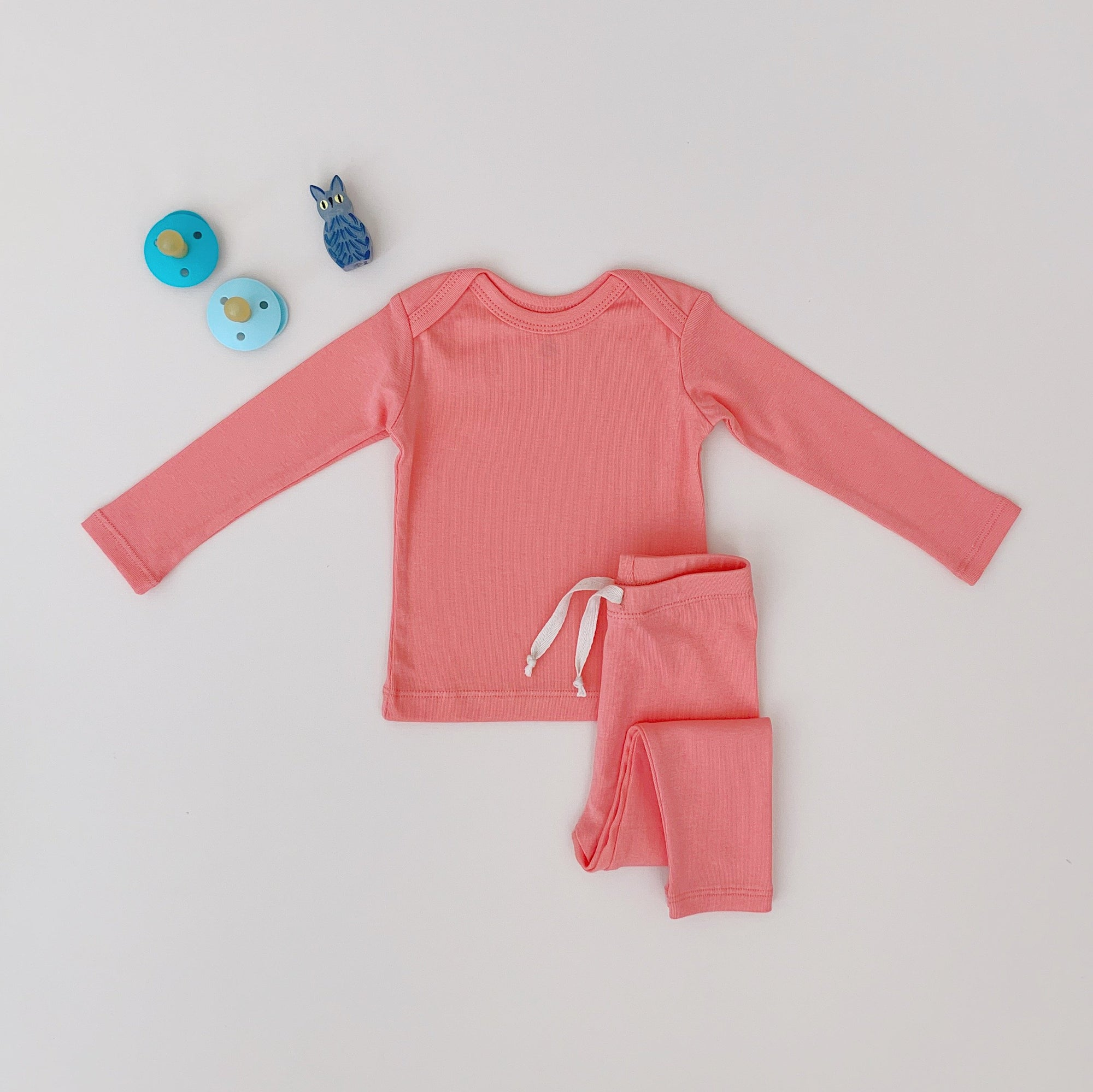 Long sleeve set-Peach