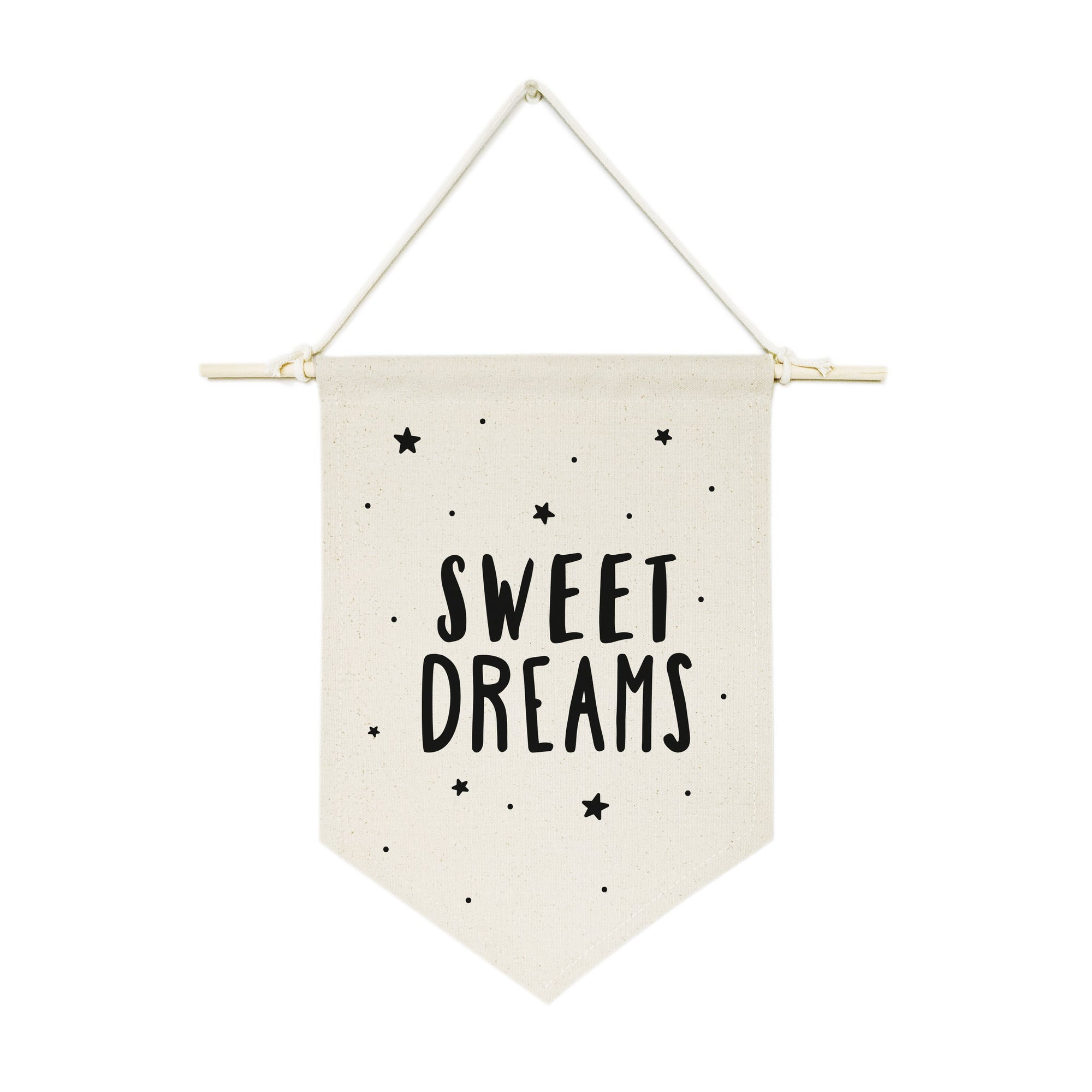 Sweet Dreams with Stars Hanging Wall Banner