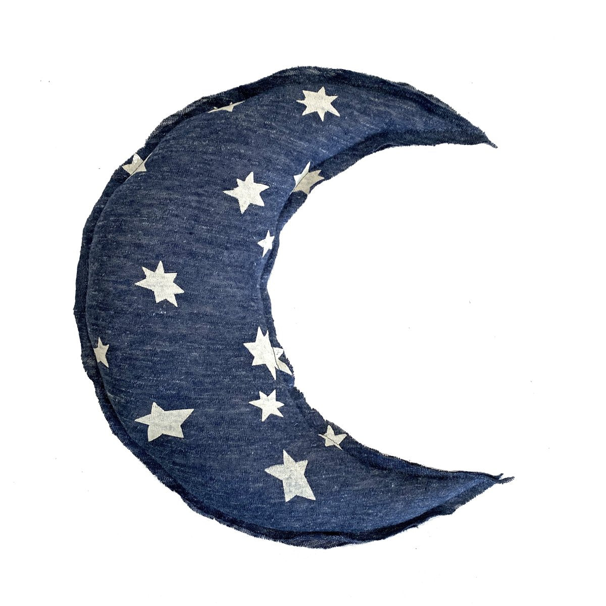 Crescent Moon Shaped Pillow - Cluster Star Print