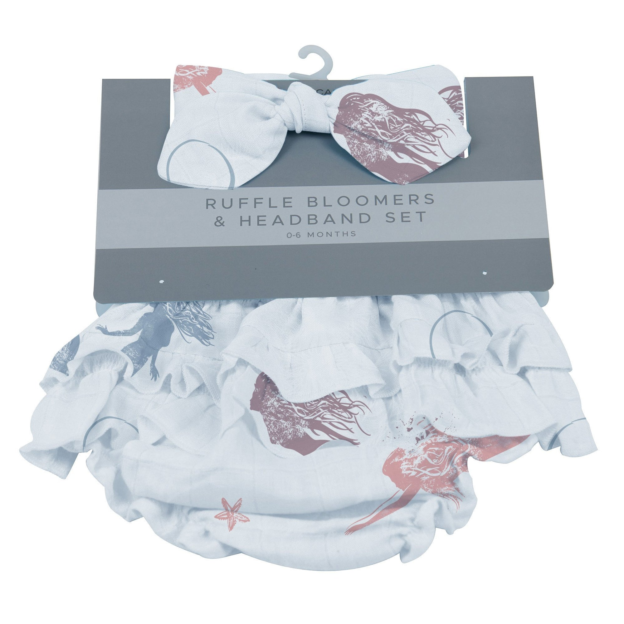 Ruffle Bloomers and Headband Set - Mermaids