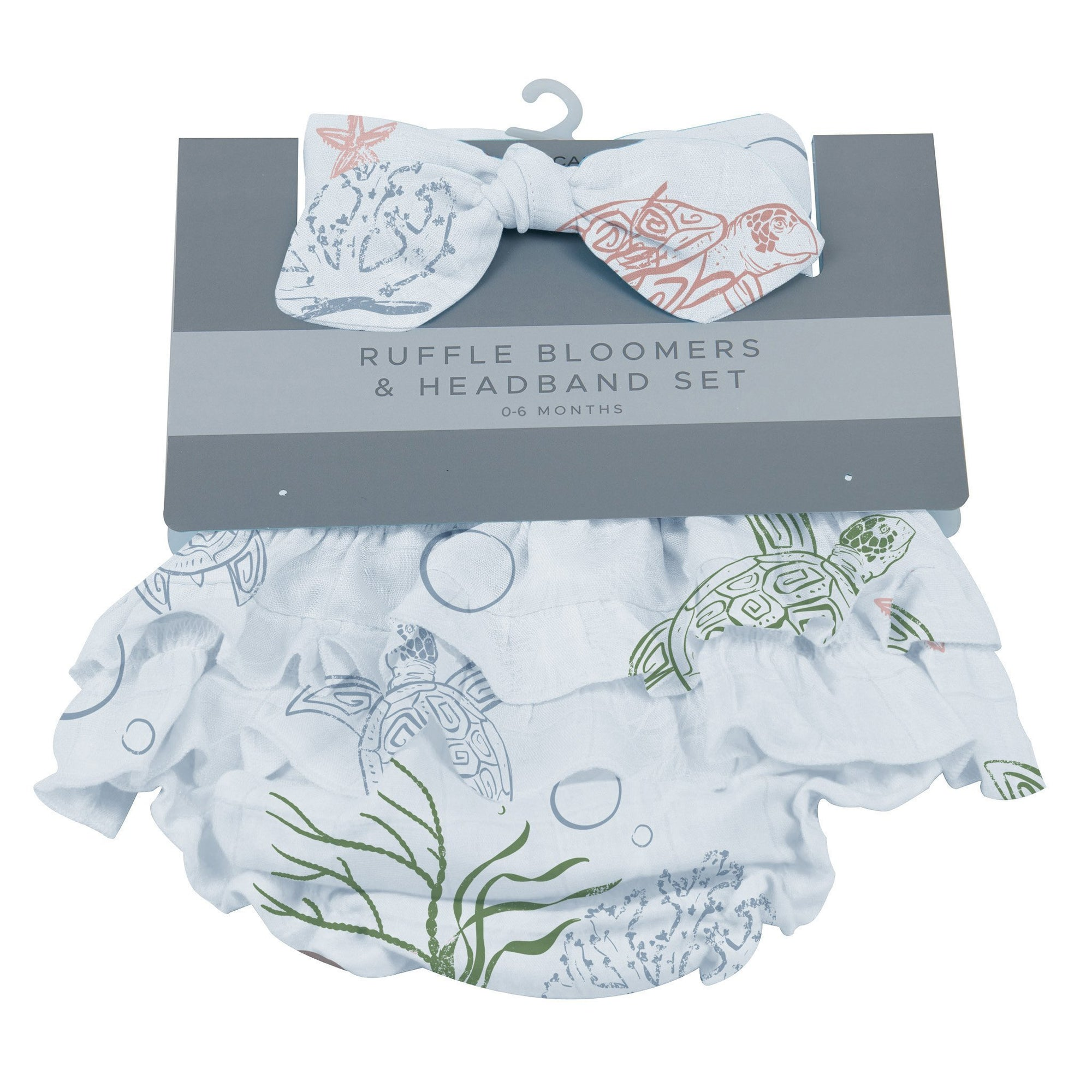 Ruffle Bloomers and Headband Set - Turtles