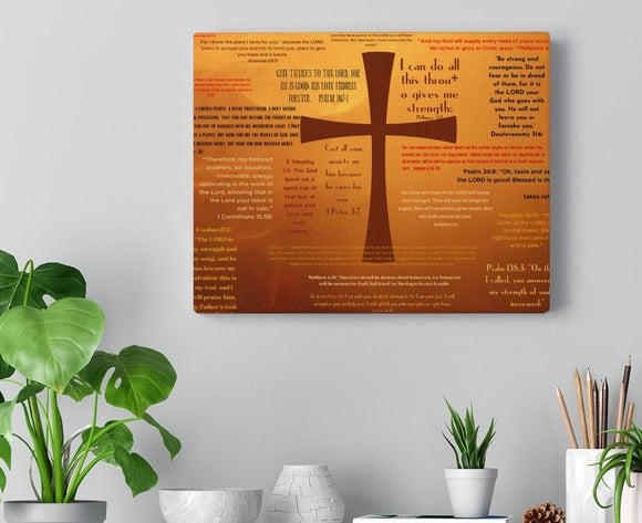 Solid Foundation Cross Wrapped Canvas Print