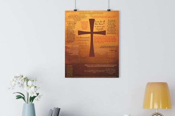 Solid Foundation Cross Giclée Poster.