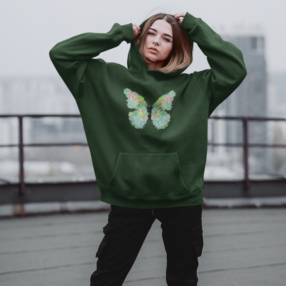 Butterfly Succulent Hoodie
