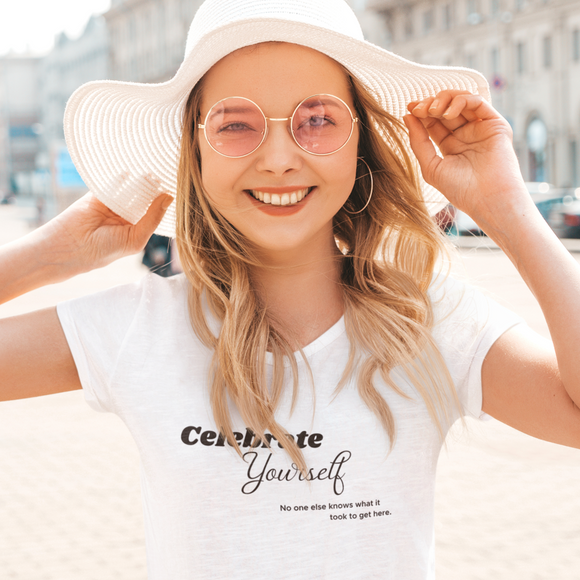Celebrate Yourself Tee,  Self Love Shirt, Mental Health Shirt, Positivity Shirt, Love Shirt,
