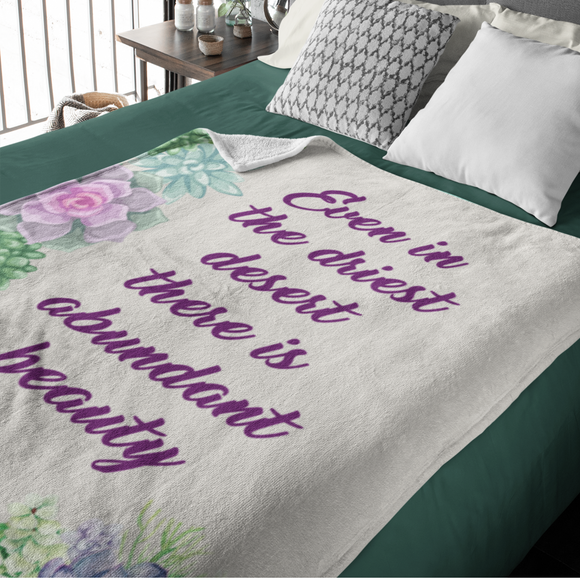 Gorgeous Succulent Abundant Beauty Fleece And Sherpa Blanket
