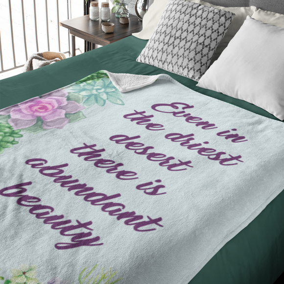 Succulent Abundant Beauty Fleece And Sherpa Blanket