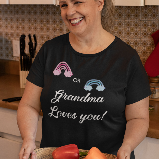 Gender Reveal Rainbow Grandma Tee