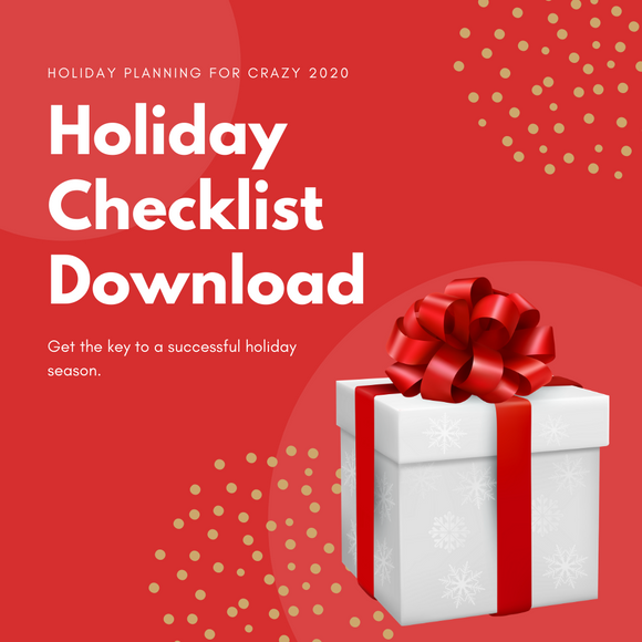 Be ready for Christmas 2020, holiday checklist, free download
