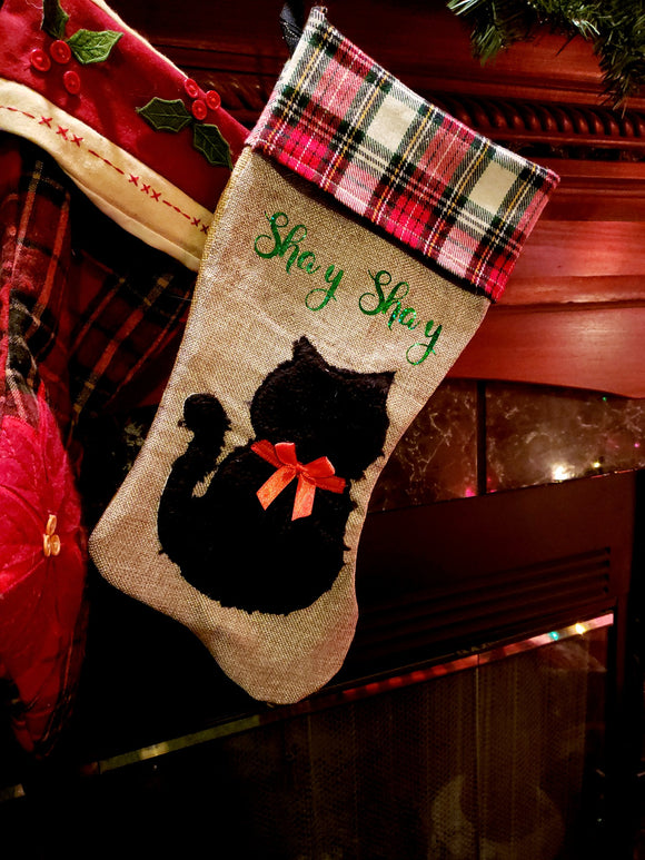 Cat/Dog Christmas stockings Personalize It