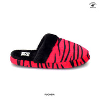 Beverly Hills Polo Club Women's Fuzzy Animal Print Slippers - Assorted Colors