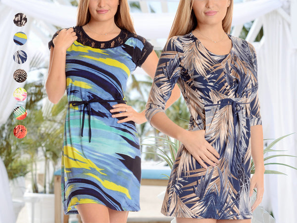 Elegant & Comfortable Vibrant Printed Dress - Assorted Styles