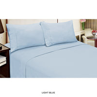 4-Piece Set: Super-Soft Wrinkle-Free Double-Brushed Sheets - Assorted Colors