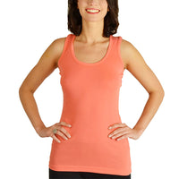 6-Pack: 100% Cotton Stretchy Racerback Scoop-Neck Tank Tops