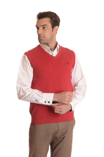 Men's 100% Cotton Pullover Sweater Vests