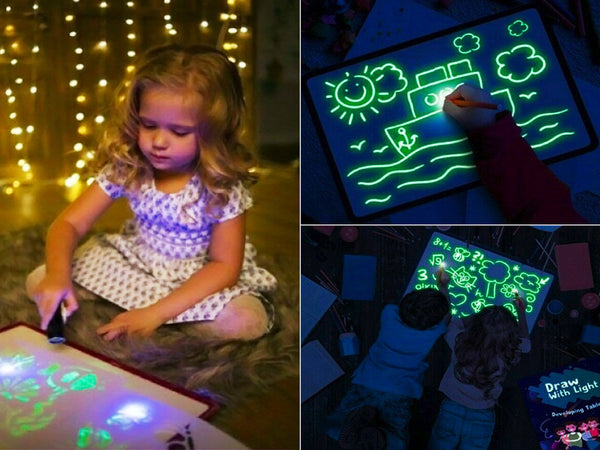 "Draw With Light Kids' 11"" Learning Tablet & Magic Writing Board"