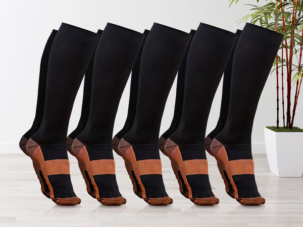 Unisex Soft Anti-Fatigue Copper Compression Socks