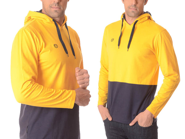 100% Cotton Essential Two-Tone Stylish Hoodie